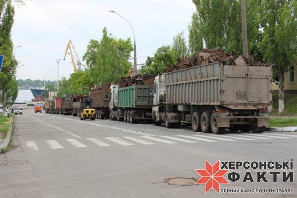 Херсонские «металлисты» оккупировали проспект Ушакова