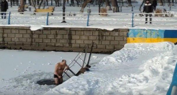 В Херсоне активизировались любители зимнего моржевания