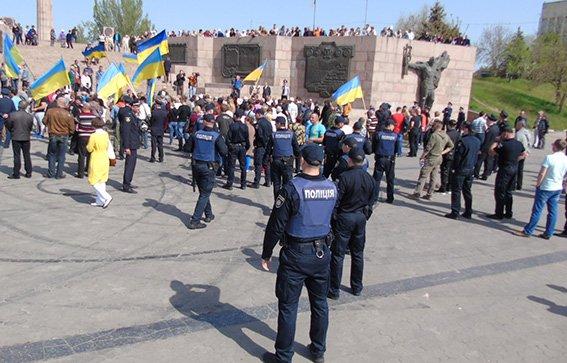ВХерсоне активисты разогнали митинг коммунистов