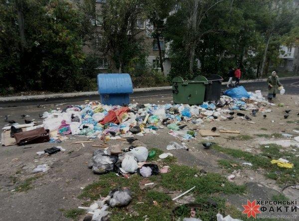 Херсонские перевозчики мусора опять
