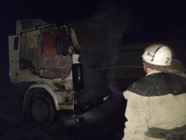 На Херсонщині вогнеборці загасили займання в кабіні вантажівки
