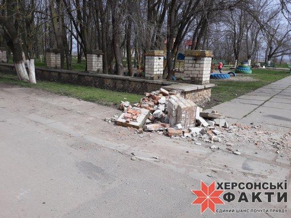 Фотофакт. На Херсонщине уничтожают сельский парк