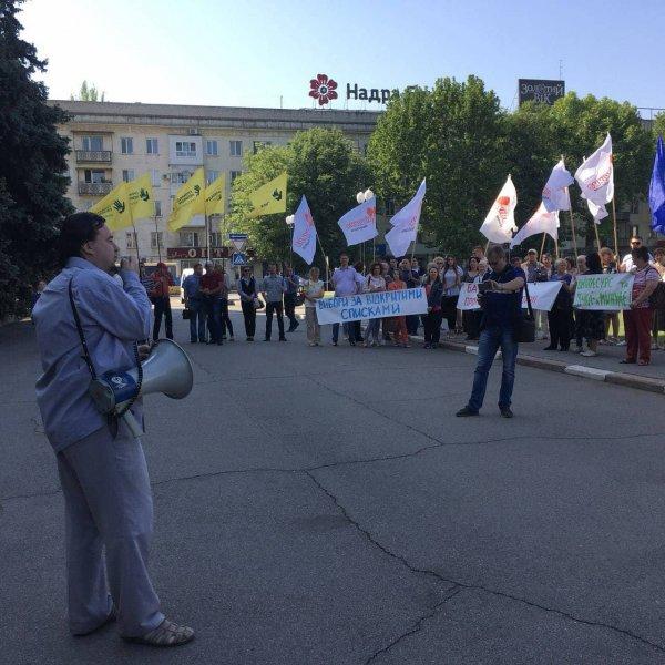 «Батьківщина» підтримала Всеукраїнську акцію «НІ виборам за законом Януковича!»