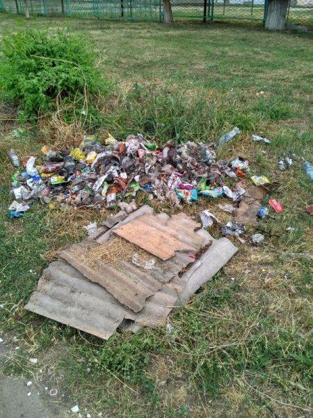 Херсонцы жалуются на свалку возле школы