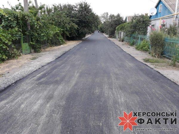 Фотофакт. Ремонт дороги в селе на Херсонщине в день отчета главы сельсовета