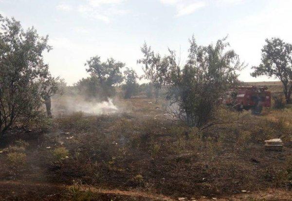 Херсонські вогнеборці ліквідували пожежу сміття на відкритій території