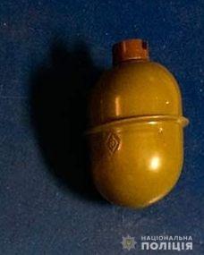 У жителя Іванівського району поліцейські вилучили предмет, схожий на гранату РГД-5