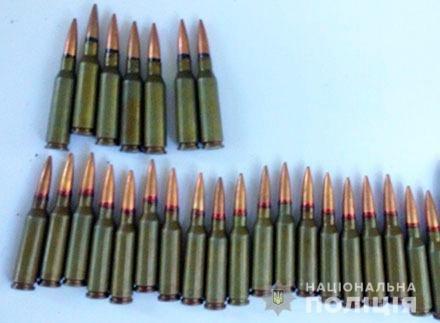 Поліцейські вилучили набої до автоматичної зброї у жителя Великоолександрівського району