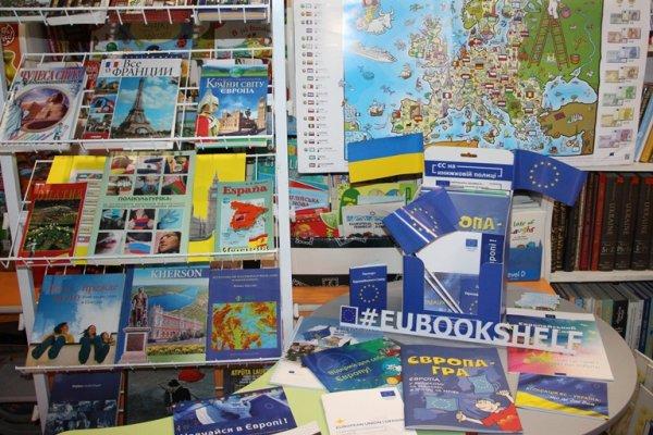 У бібліотеці імені Дніпрової Чайки з'явилися куточки ЄС