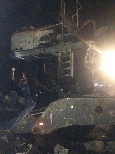 Херсонські рятувальники ліквідували загоряння мобільного телескопічного перевантажувача