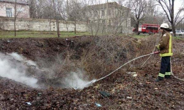 Рятувальники Верхньорогачицького району ліквідували пожежу сміття