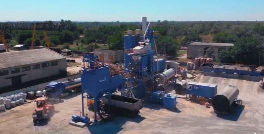В місті Нова Каховка запрацював сучасний асфальтобетонний завод «Кредмаш ДС – 168» потужністю 160 т/год.
